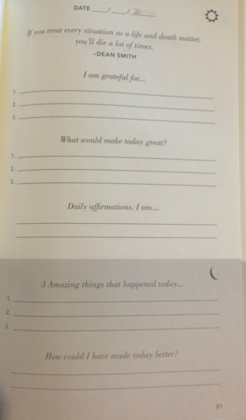 Page of 5 Minute Journal